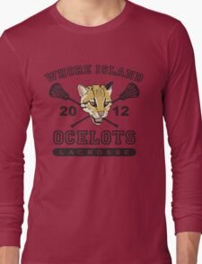Go Ocelots! (Black Fill) Long Sleeve T-Shirt