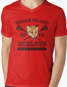Go Ocelots! (Black Fill) Mens V-Neck T-Shirt