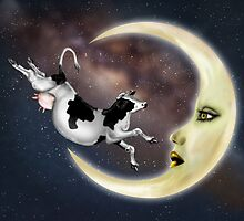 The Cow Jumped Over The Moon by Paul Fleet