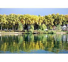 Reflections in the river Rhone at Lyon - France Photographic Print
