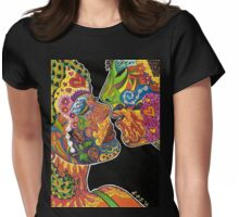 Just Before The Kiss Womens Fitted T-Shirt