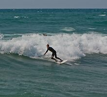Surfing Lake Michigan 07 by Cary Marks