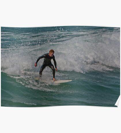 Surfing Lake Michigan Poster