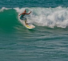 Surfing Lake Michigan 09 by Cary Marks