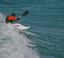 Surfing Lake Michigan 10 by Cary Marks