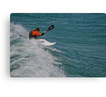 Surfing Lake Michigan 10 Canvas Print