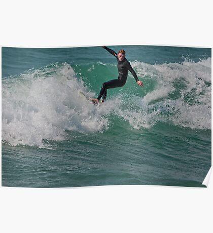 Surfing Lake Michigan 13 Poster