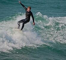 Surfing Lake Michigan 14 by Cary Marks