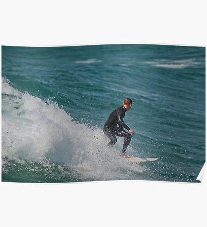 Surfing Lake Michigan 15 Poster