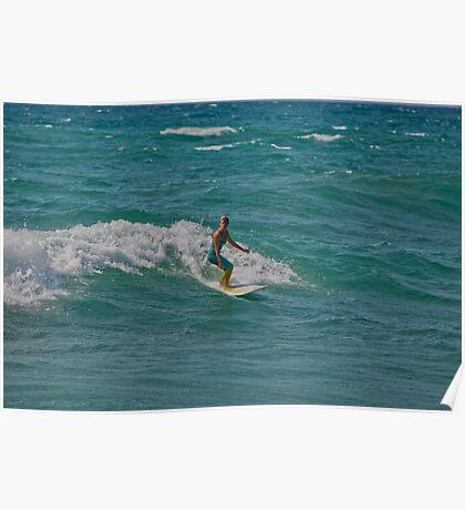 Surfing Lake Michigan 16 Poster