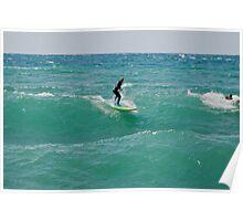 Surfing Lake Michigan 18 Poster