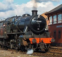 Locomotive Stanier Mogul 42968 leaving Kidderminster by John Evans