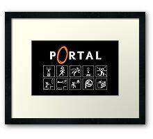 Portal Rulez Framed Print