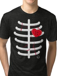 heart.shaped.button Tri-blend T-Shirt
