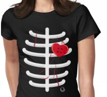 heart.shaped.button Womens Fitted T-Shirt