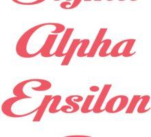 Sigma Alpha Epsilon Pi Floral Border Sticker