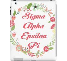Sigma Alpha Epsilon Pi Floral Border iPad Case/Skin