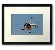 The Helicopter ride Framed Print