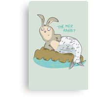 Mysteries of The Deep 1 - The Mer-Rabbit Canvas Print