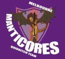 Official Melbourne Manticores Quidditch Shirt by KatArtDesigns