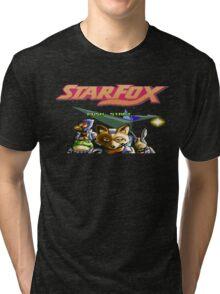Starfox 8 bit Tri-blend T-Shirt