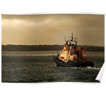RNLI lifeboat, Evening trip Poster