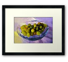 Grapes on the Half Shell Framed Print