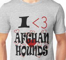 I <3 Afghan Hounds Unisex T-Shirt