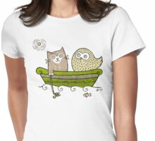 Pea Green Boat  Womens Fitted T-Shirt