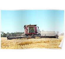 Norman Stripping Barley... Poster