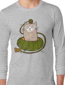 Knit One Purrl One Long Sleeve T-Shirt