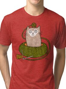 Knit One Purrl One Tri-blend T-Shirt