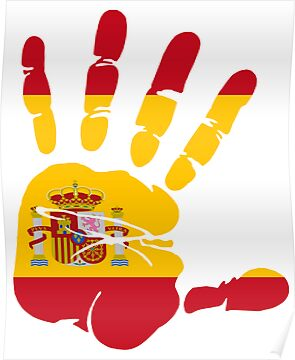 Hand print of flag of Spain by nadil