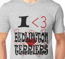 I <3 Bedlington Terriers Unisex T-Shirt