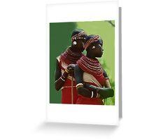 Portrait of Samburu Girls II Greeting Card