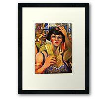 THE PERNOD DRINKER Framed Print