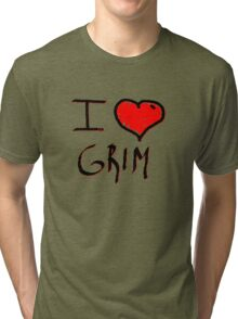 i love grim heart  Tri-blend T-Shirt