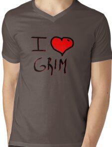 i love grim heart  Mens V-Neck T-Shirt