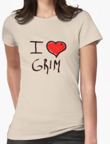 i love grim heart  Womens Fitted T-Shirt