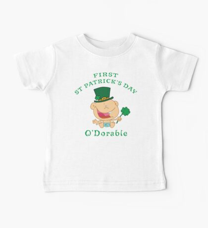 First St Patrick's Day Baby Tee