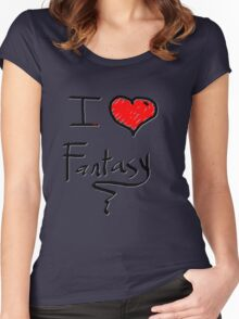 i love fantasy heart  Women's Fitted Scoop T-Shirt
