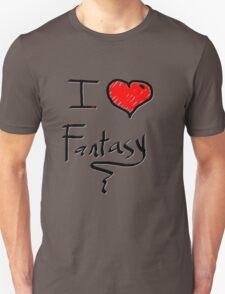 i love fantasy heart  Unisex T-Shirt