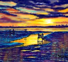 Sunset over the Humber Estuary by Glenn Marshall