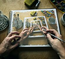 The Artist's Hands, The Master hands by fine-art-prints