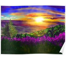 Sunset over Rosedale Poster