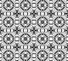 Black And White Pattern by perkinsdesigns