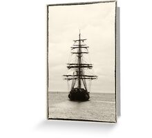 Ahoy!  Pirate Ship  Greeting Card