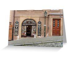 Praha: Beautiful Store Greeting Card