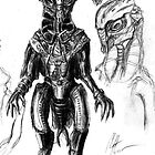 Rendering sketch 3 - Alien by Matt Morrow