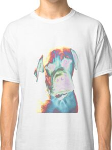 Psychedelic Dog Print Classic T-Shirt